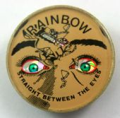 Rainbow - 'Straight Between the Eyes' Prismatic Crystal Lapel Badge